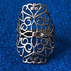 Jewelry - Vintage cut out sterling silver cross ring s 6.5